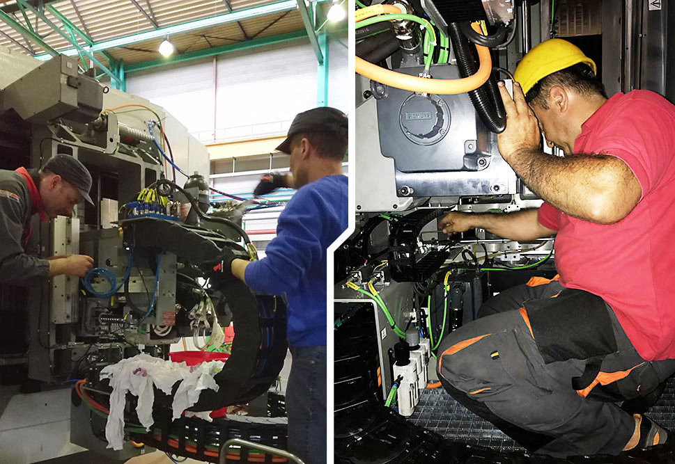 Services of remote troubleshooting maintenance of machine tools